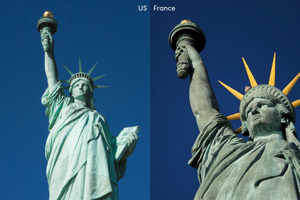 Statues of Liberty in US and France